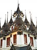 Loha Prasat Metal Palace In Bangkok Thailand Named Wat Ratchanaddaram