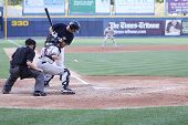 Scranton Wilkes Barre Yankees batter Jorge Vasquez reacts