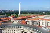 Aerial view on Washington DC