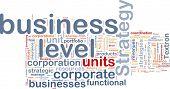Ilustración de wordcloud de concepto de fondo de la estrategia de nivel empresarial