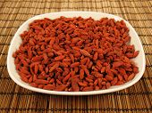Goji Berries On A Plate