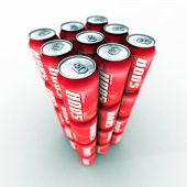 Red Soda Cans Tower