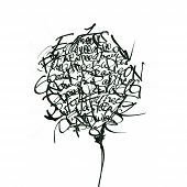 stock photo of hand drawn  - Hand drawn tree created from abc letters - JPG