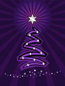 Purple Stylized Christmas Tree.Eps