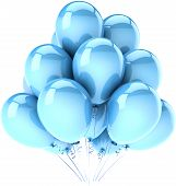 Party balloons light cyan