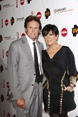PASADENA - JAN 5: Bruce Jenner and wife Kris Jenner at the Comcast Entertainment Group TCA Cocktail