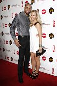 PASADENA - JAN 5: Kendra Wilkinson and husband Hank Baskett at the Comcast Entertainment Group TCA C