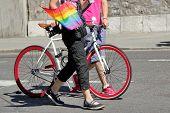 Постер, плакат: Gaypride и велосипедов