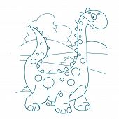 Character Love Dinosaurs. Dino Character. Reptile Animal. Cute Dinosaurs Design. Cute Baby Stegosaur poster