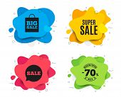 Super Sale. Liquid Shape, Various Colors. Special Offer Price Sign. Advertising Discounts Symbol. Ge poster
