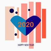 2020, Wish You A Prosperous, Loving Year. Happy New Year 2020. New Year Celebration, Banner, Card Or poster