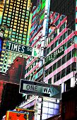Times Square Street Signs poster