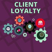 Word Writing Text Client Loyalty. Business Concept For The Result Of Consistently Positive Satisfact poster