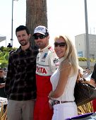 LOS ANGELES - APR 14:  Brother Brandon Jenner, Brody Jenner, mom Linda Thompson at the 2012 Toyota P