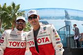 LOS ANGELES - APR 14:  Hill Harper, Eddie Cibrian at the 2012 Toyota Pro/Celeb Race at Long Beach Gr