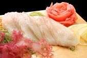 Sashimi Izumitai On A Board Closeup