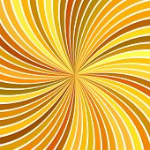 Orange Psychedelic Abstract Spiral Stripe Background - Vector Curved Ray Burst Design poster