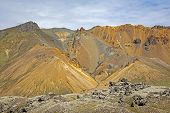 Beautiful And Colorful Mountain Landscape In Landmannalaugar, Iceland poster