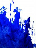 Watercolor Background in Blue and White