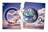 Presence Of Co2 In The Atmosphere - Concept Image With An Earth Image. - Photo Composition With Imag poster