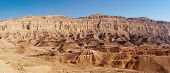 Rim wall of the Small Crater (Makhtesh Katan) in Israel's Negev desert