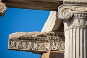 Floral Patterns At The Erechtheion In Athens poster