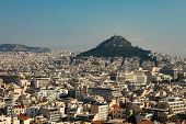 Athens City View With Lycabettus Hill poster