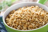 Fresh Homemade Roasted Or Fried Cauliflower Rice In Bowl (selective Focus, Focus One Third Into The  poster