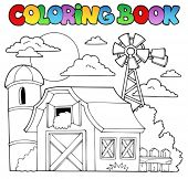 Coloring book farm theme 1 - vector illustration.