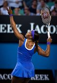 MELBOURNE - JANUARY 21: Serena Williams in her third round win over Greta Arn at the 2012 Australian