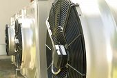 Stainless Steel Air Conditioning Big Exterior Fans poster