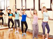 pic of ballet barre  -  Women group in aerobics class - JPG