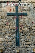 Profaned Memorial Cross