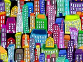 Seamless Colorful Cityscape