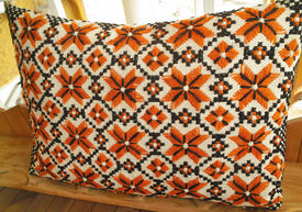 picture of pillowcase  - Vintage pillowcase with handmade embroidery  - JPG