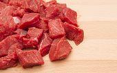 Fresh chopped beef steak