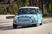 Leiria, Portugal - February 2: Rodrigo Sardinha Drives A Mini Cooper During 2013 Amateur Winter Rall