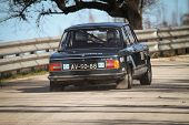 Leiria, Portugal - February 2: Joao Pina Drives A Bmw 1600 During 2013 Amateur Winter Rally, In Leir