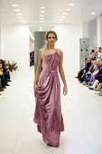 ZAGREB, CROATIA - FEBRUARY 9: Fashion model wears wedding dress at 'Wedding expo' fashion show, on F