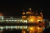 Golden Temple At Night - Heart Of Sikh Religion At Sacred City Amritsar,punjab, India
