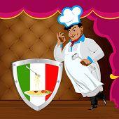 Traditionele Italiaanse beste gerechten van chef-kok
