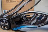 GENEVA SWITZERLAND - MARCH 13: Bmw Concept Car i8 On Display At 82 Geneva International Motor Show