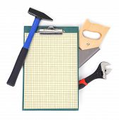 Work Tools And Clipboard