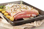 Pork Bellt On Sheet Pan.