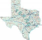 Interestatal mapa de Texas