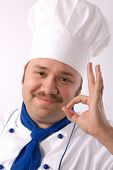 Happy Attractive Cook poster