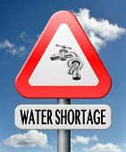 water shortage caused by drought aridification and overpopulation scarcity or dificit in drinking wa