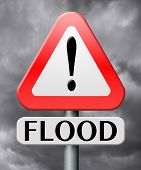 image of flood  - flood and water damage flooding risk and control against disaster - JPG