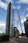 Crash aftermath, St George's Wharf Tower