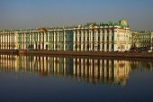 image of sankt-peterburg  - View Winter Palace in Saint - JPG